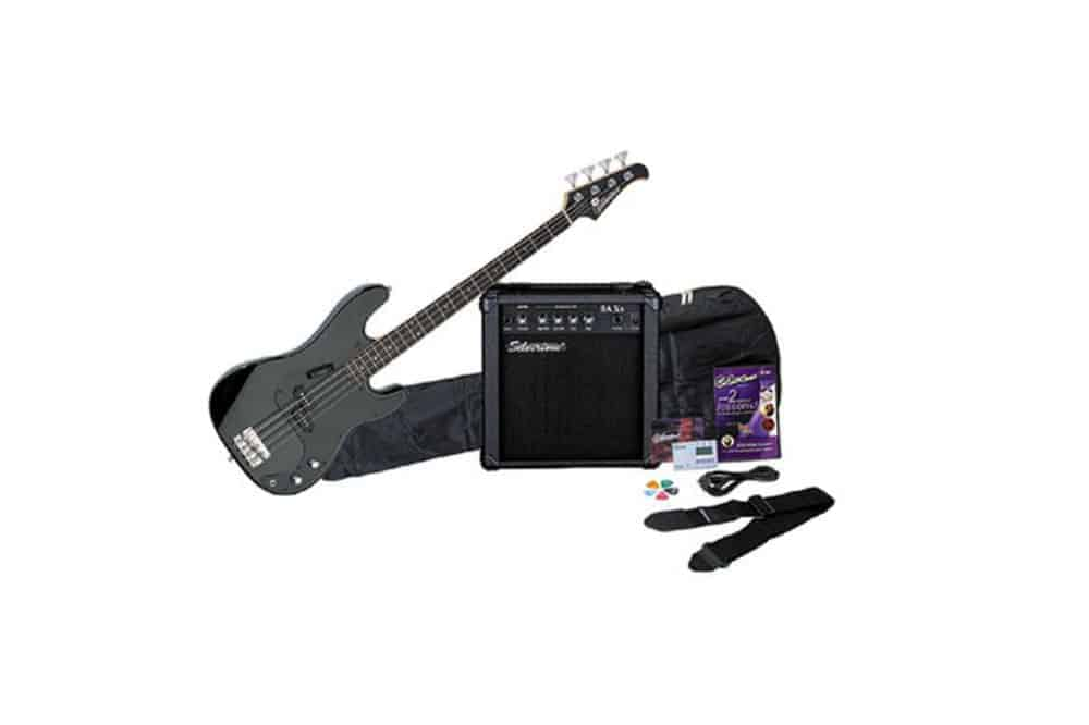 Silvertone LB11 Bass Guitar and Amp Package, Liquid Black Review